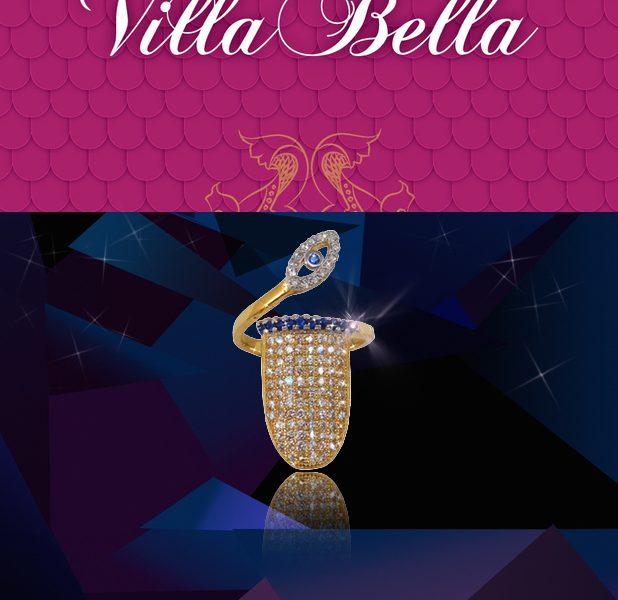 villa bella nail rings silver