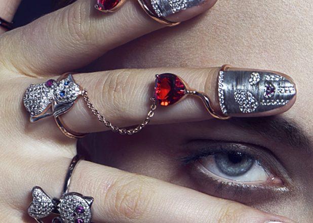 MILUSI Firenze anello copri unghia nail rings per Valentine's Day San Valentino